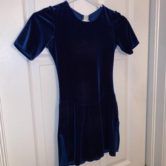 Blue Figure Skating Dress - excellent condition